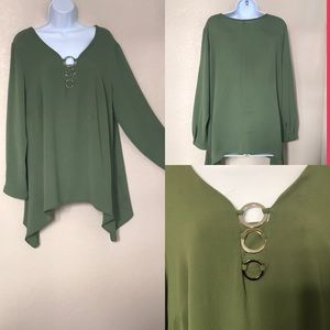 My Collection Green Blouse